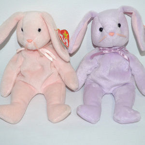 TY Bunnies Hoppity and Floppity Vintage 1996